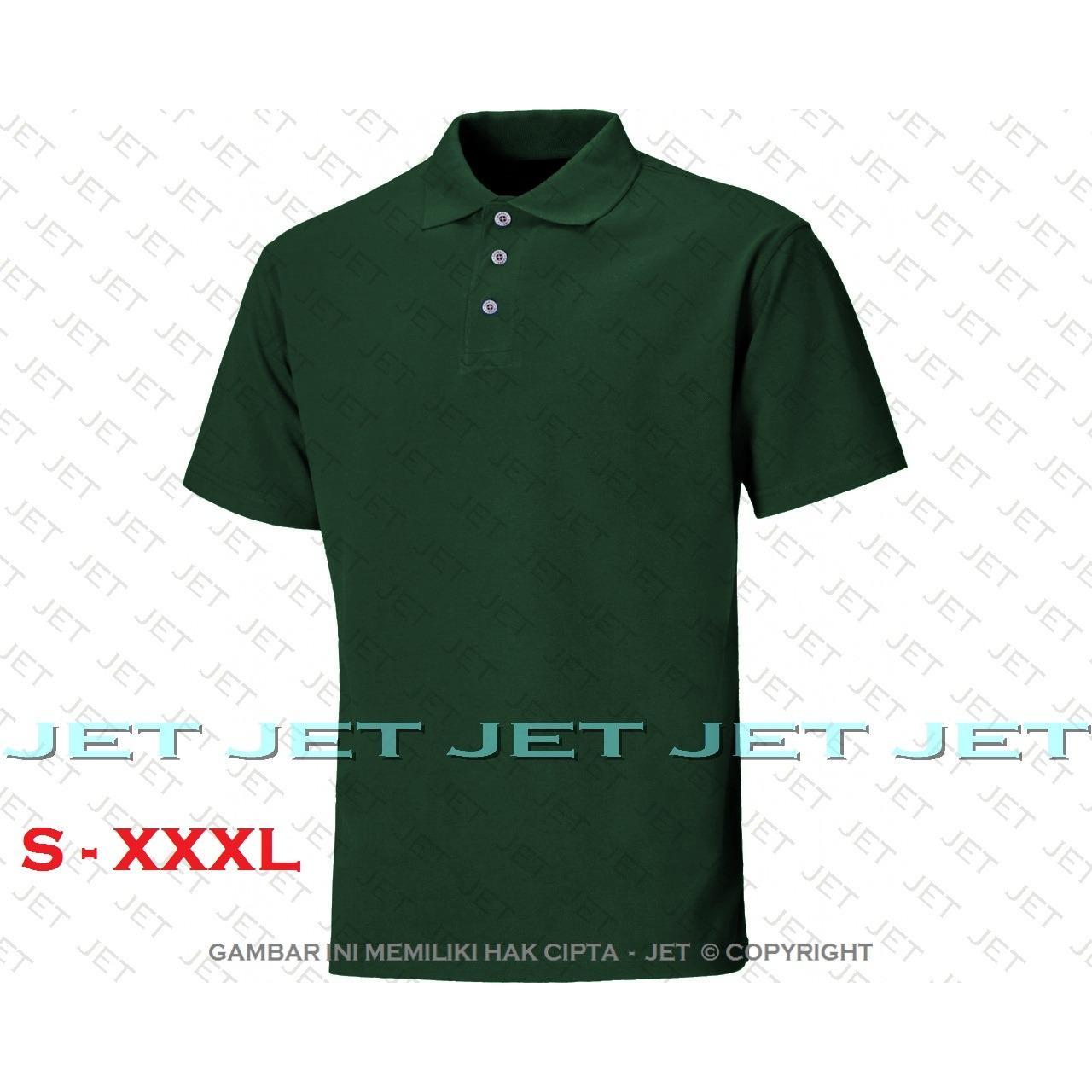 Pakaian Pria Lgs Slim Fit Kaos Polo Motif Simpel Logo Biru Xl