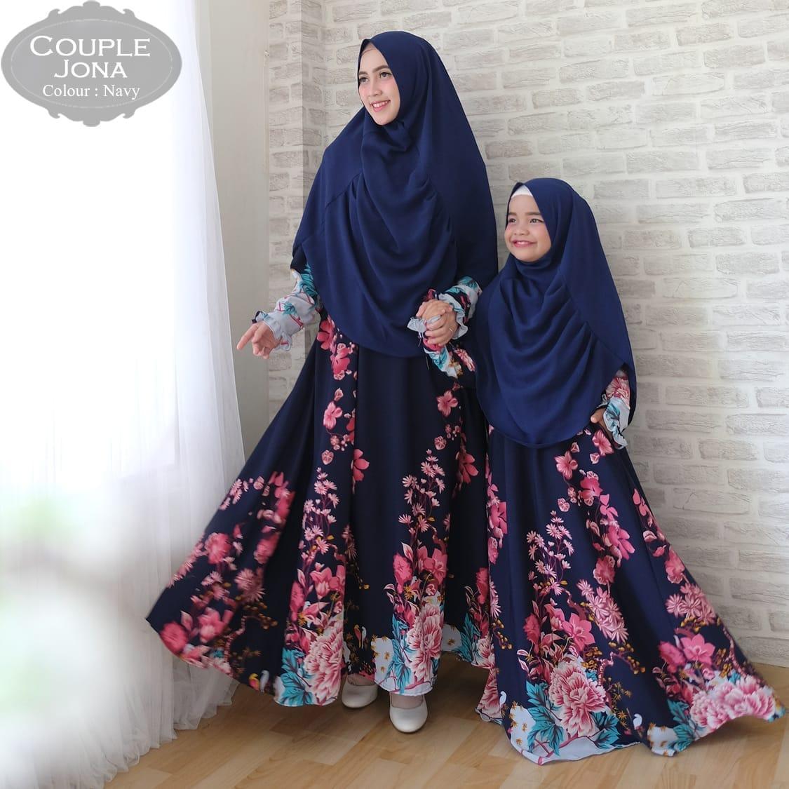 Kiara fashion gamis muslim syari couple jona ibu dan anak couple baju lebaran terbaru dan terkini fashionable