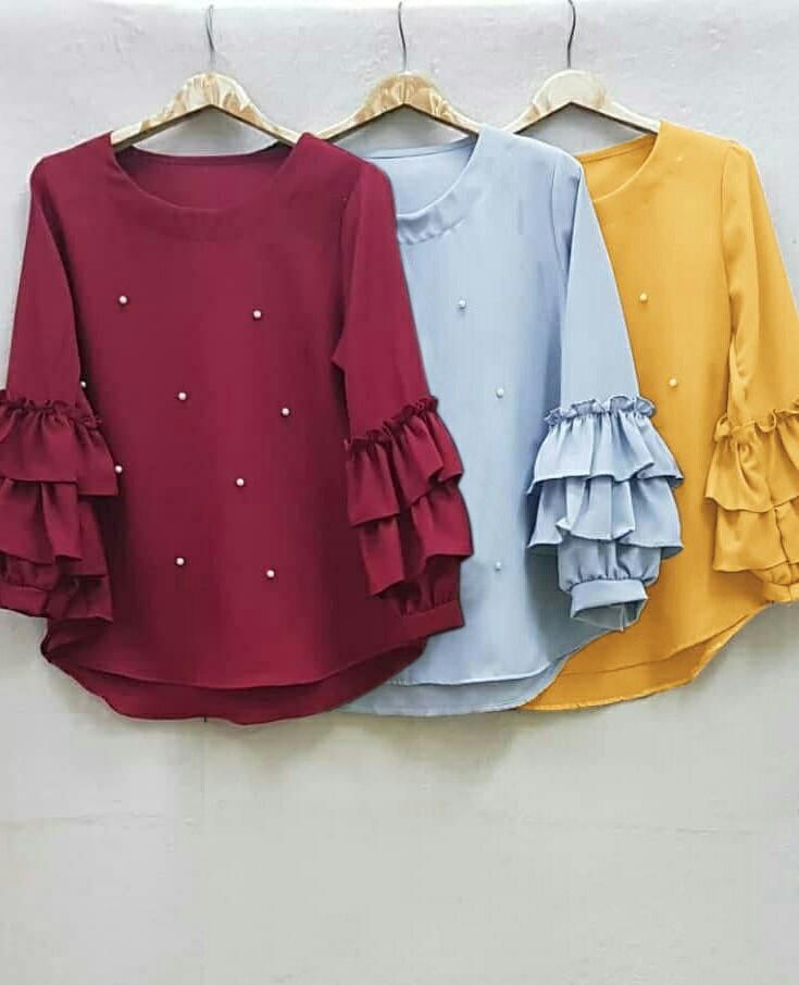 RameRame/FH /Mutiara blouse/Atasan wanita/fashion muslim/baju kekinian/baju murah/baju wanita murah