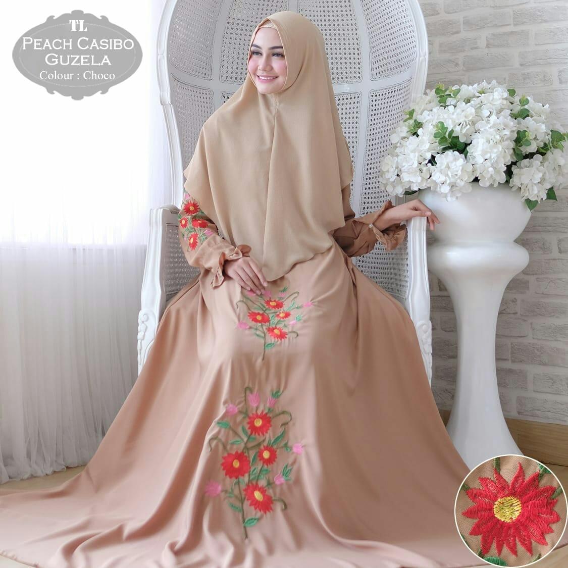 Media Fashion Shop - Baju Gamis Syari Wanita Muslim Syar i Cosibo Guzela  Choco - c016314495