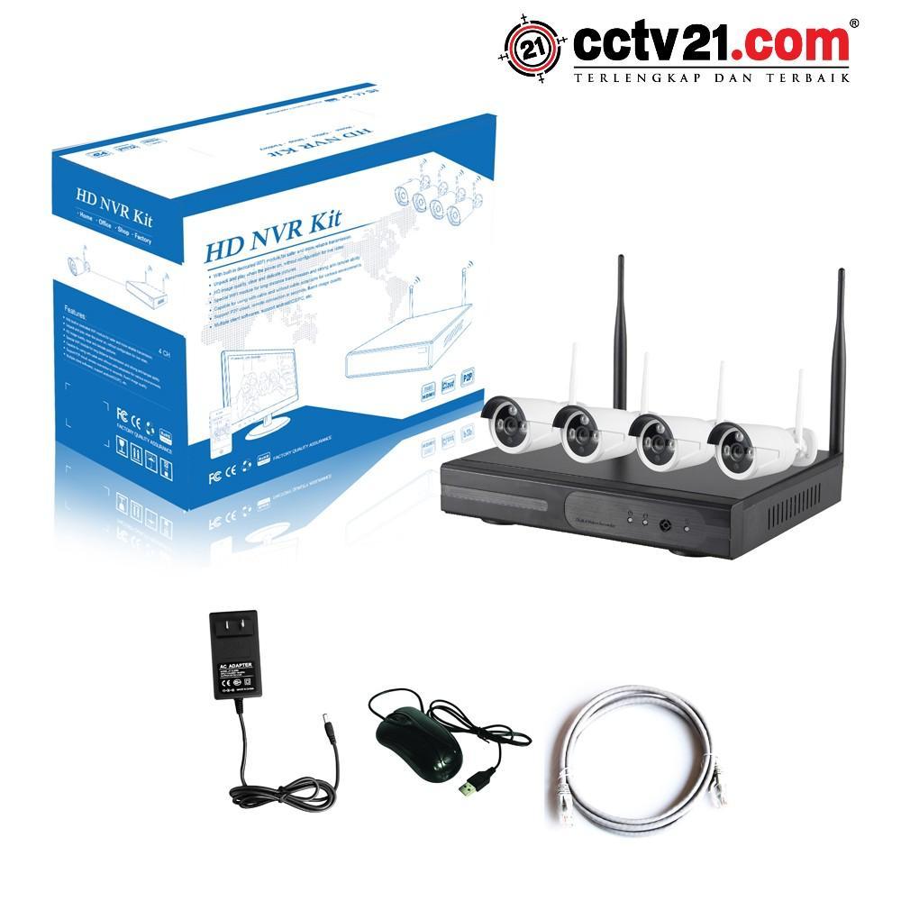 Promo Wireles Wifi - IP Camera HD -NVR KIT 4Chanel