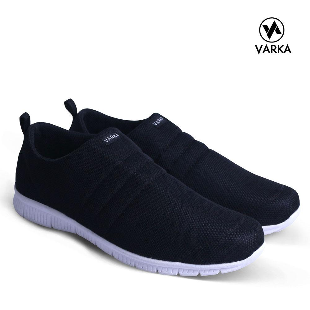 Sepatu SlipOn Pria Varka V 081 Sepatu Kets Kasual Pria Sepatu Santai - Hitam 93d9bb5229