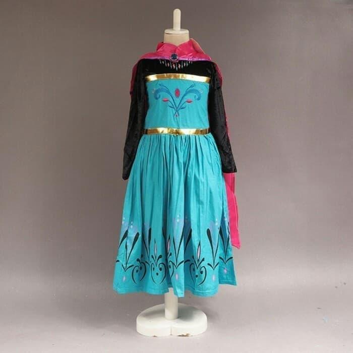 Kostum Anak Perempuan Baju Dress Elsa Frozen Jubah Merah Murah 05D2838