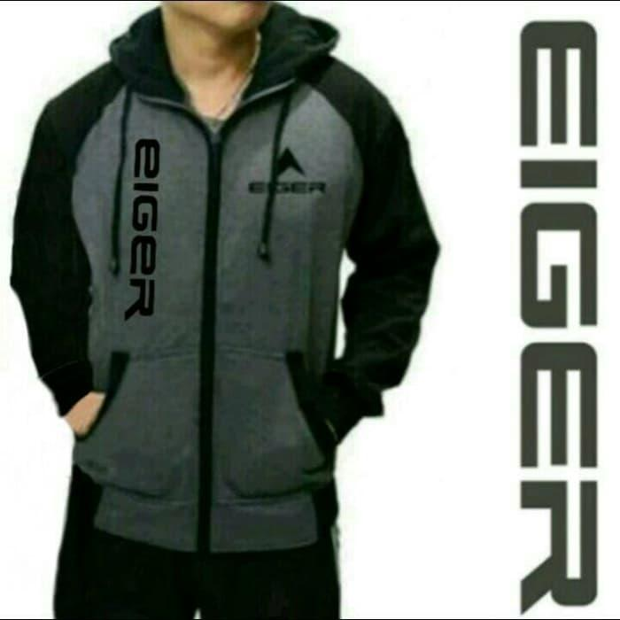 Terbaru!! Jaket Zipper Sweater Jumper Hoodie Eiger Terbaru - ready stock