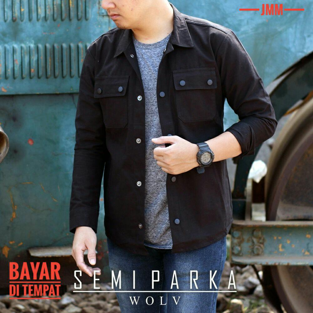 JAKET SEMI PARKA BLACK EXCLUSIVE MURAH - JMM