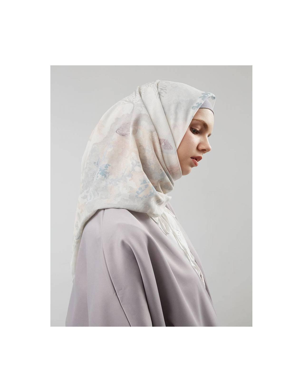 Buttonscarves Hijab Premium Segi Empat Song Of The Sea Sand Voal