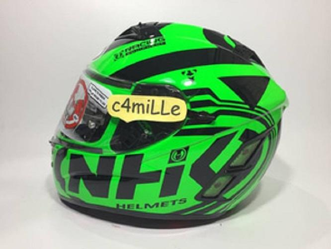 HELM NHK TERMINATOR ROAD GREEN FLUO DOUBLE VISOR FULL FACE