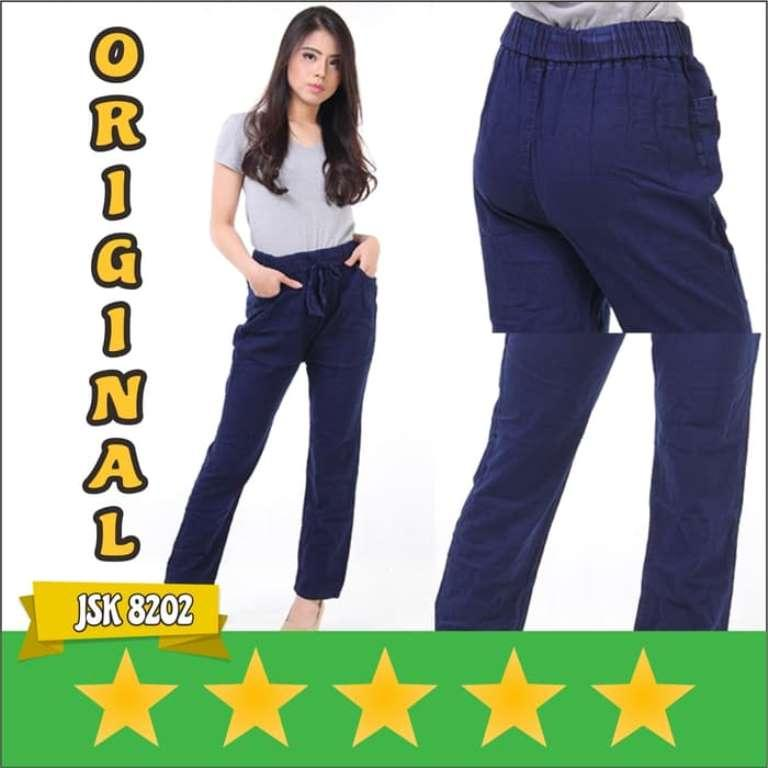 JSK 8202 - Celana Jeans Panjang Untuk Wanita Model Kulot