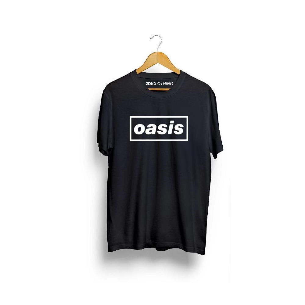 secondi - Kaos distro band oasis hitam