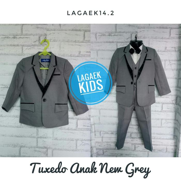 GEMES SET JAS ANAK PREMIUM NEW GREY 6 BULAN - 5 TAHUN/TUXEDO SKU -