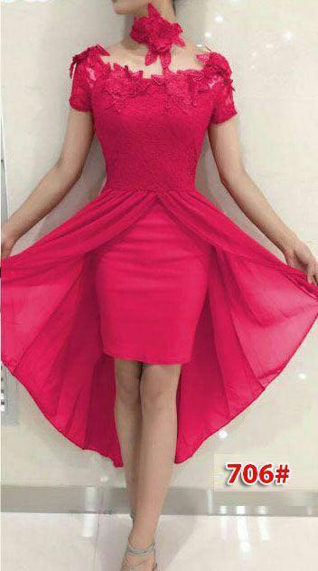 706# baju pesta import / baju seksi / gaun pesta import / baju sabrina/ dress fashion import