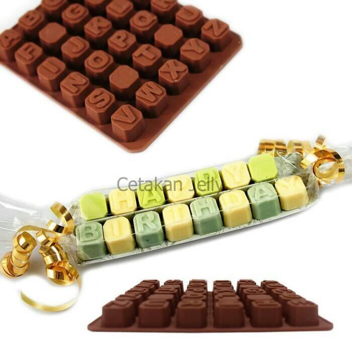 Cetakan puding/ coklat uppercase box ( Huruf Besar )