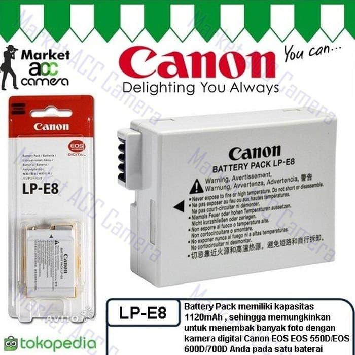 Battery Canon LP-E8 for EOS 550D, 600D, 650D, 700D, Kiss X4 TERLARIS