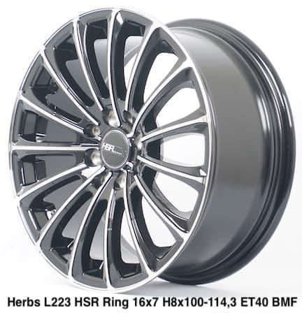Velg Mobil Murah HERBS L223 HSR Ring 16 ( Pasang VIP AUTOSTYLE )