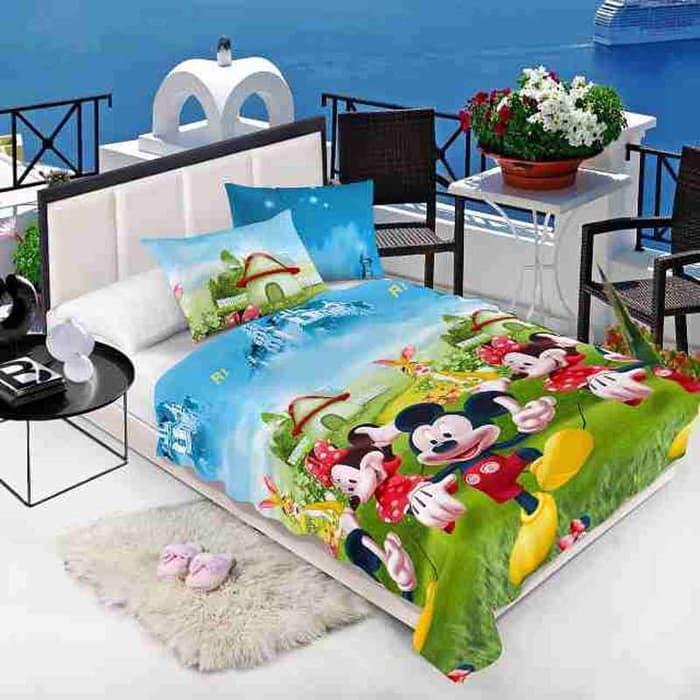 Selimut Anak 150x200cm - Mickey Minnie Mouse  selimut bed cover bayi dewasa karakter bulu tebal bonita anak doraemon carter bonita