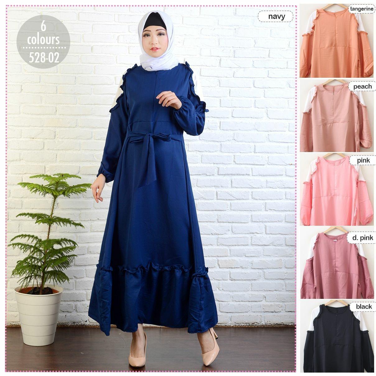D-Fashion Nia Dress Wanita / Dress Muslim / Gamis Wanita / Baju Muslim /