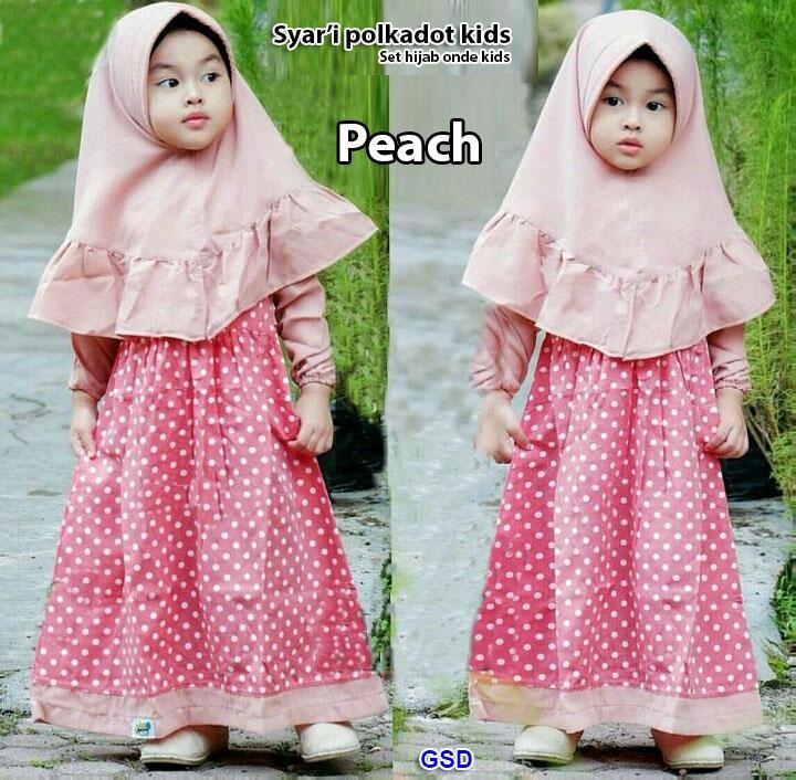 GSD- Baju Muslim Anak / Gamis Anak / Baju Anak Cewek / Hijab Anak / Set Hijab Onde Kids
