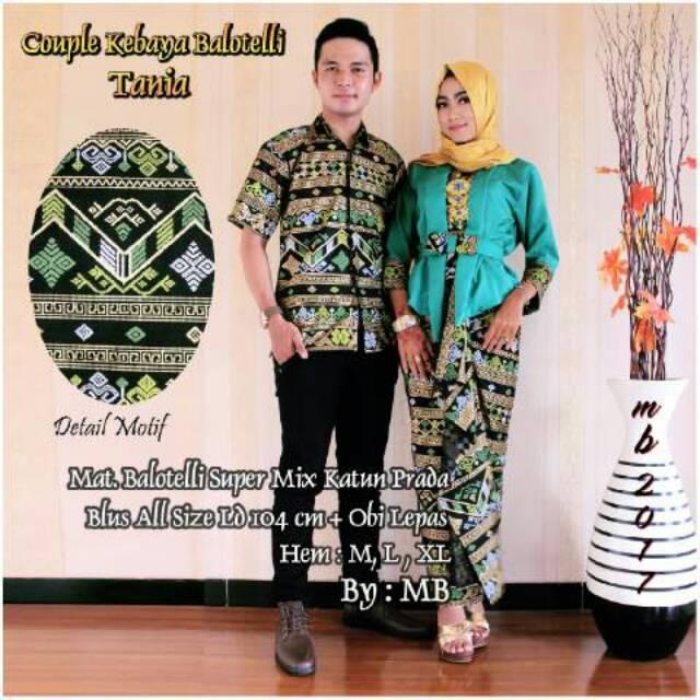 Batik modern Batik couple kebaya balotely tania couple keluarga baju pakaian batik murah tanah abang