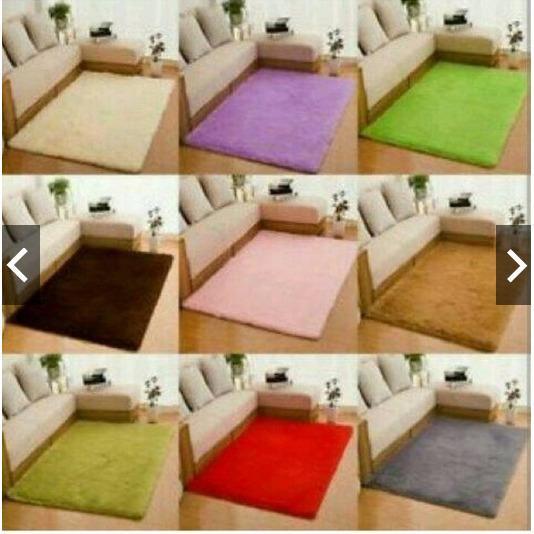 PROMO Karpet bulu rasfur polos size 150x100 tebal 2cm