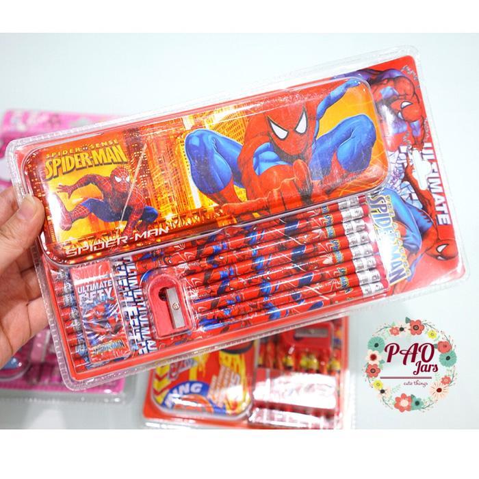 kotak pensil paket anak sekolah / stationery paket / tempat pensil paket