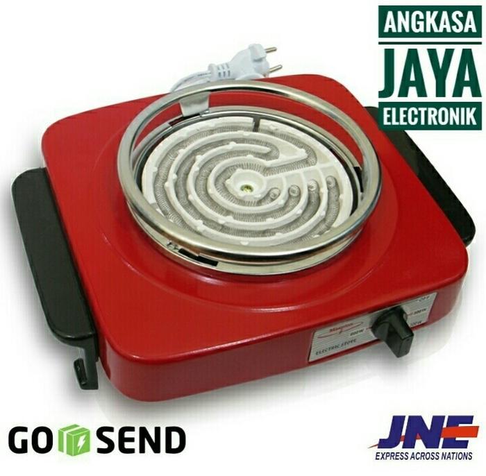 Maspionn kompor listrik Merah, 600 Watt. S-300 Promo Terlaris
