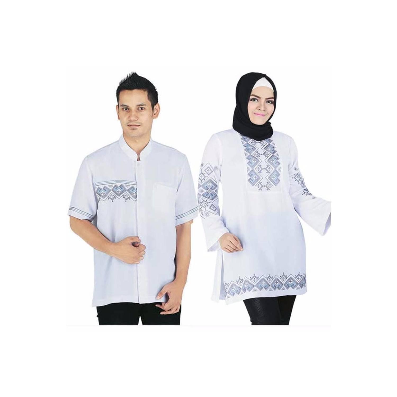 baru Baju Muslim pasangan Couple Warna Putih