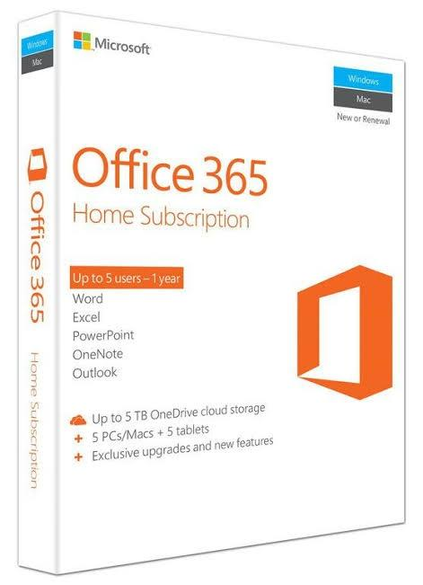Genuine Microsoft Office 365 Home 5 Users Activation Key