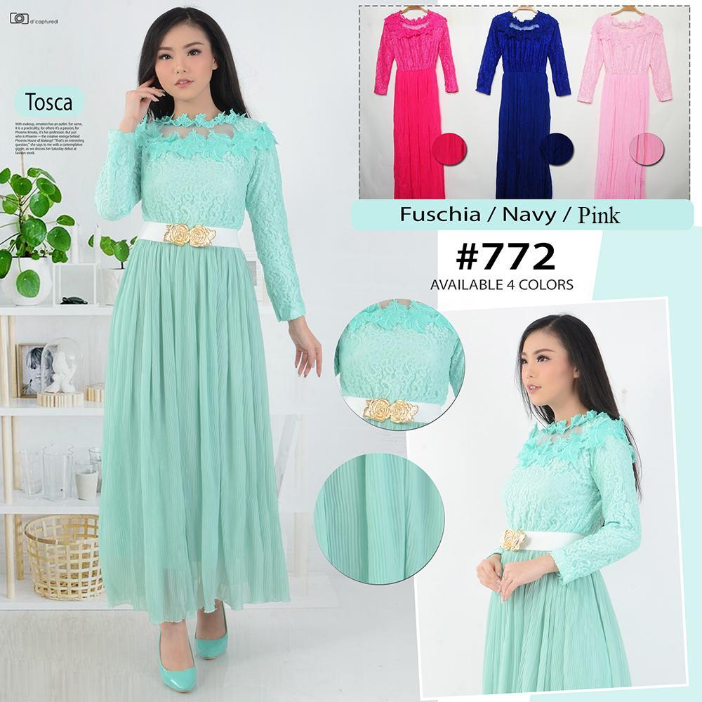 Gamis - Dress Maxi - gamis Wanita - 772 - Brokat