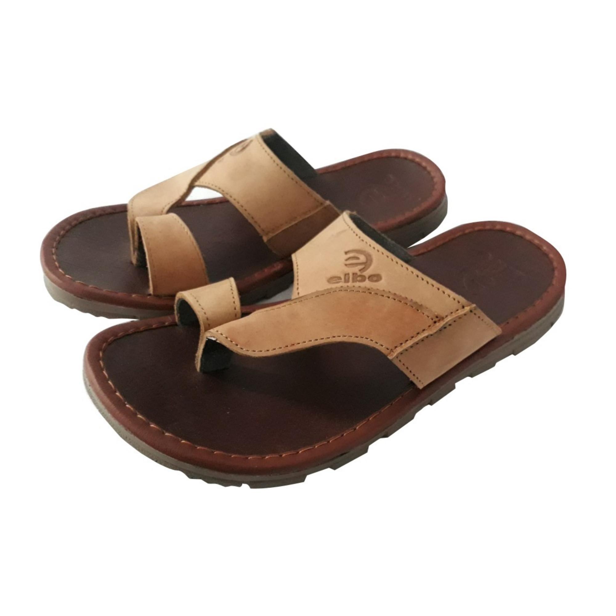 Sandal Pria Trendy Kulit Asli - Coklat fbe7c0a1b6