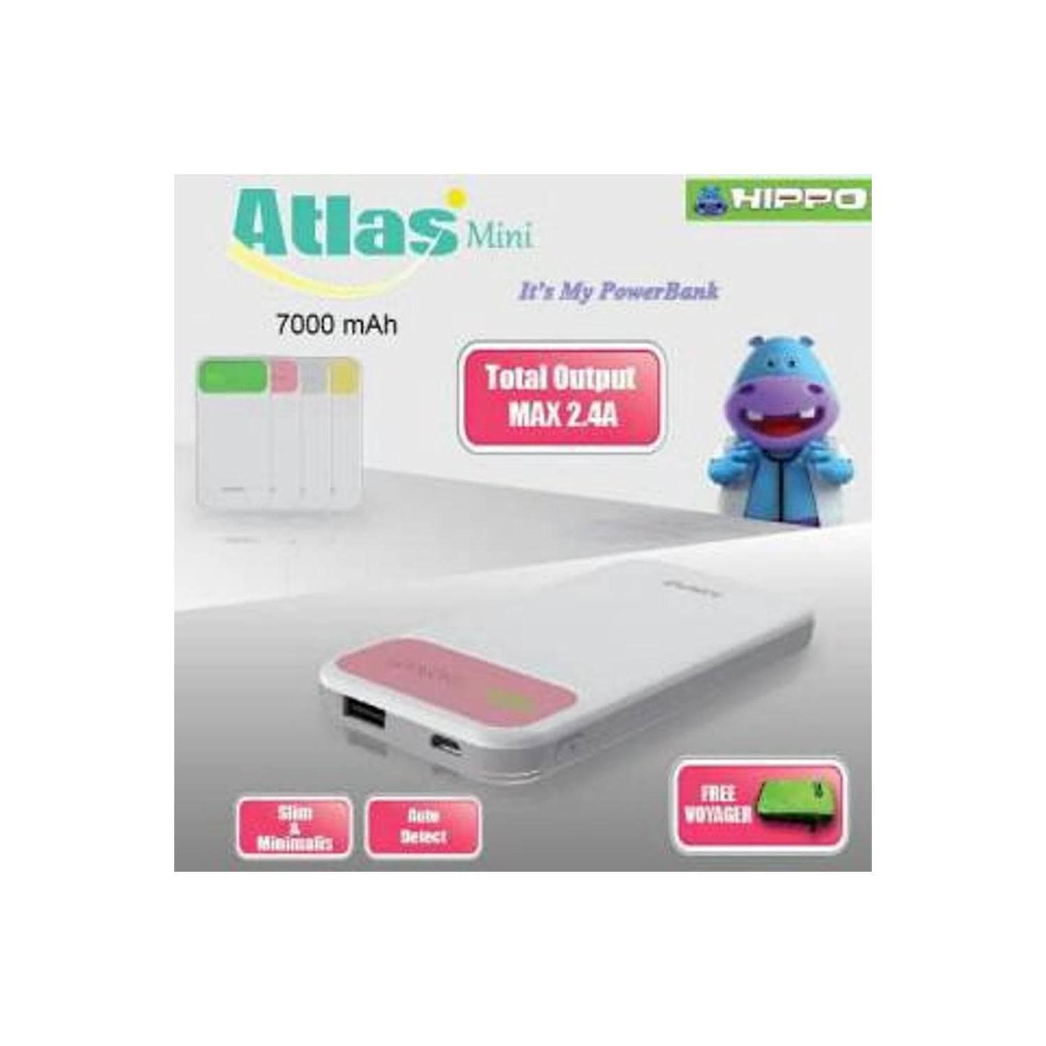 Powerbank Hippo Power Bank 7000MAH Atlas Mini Simple Pack