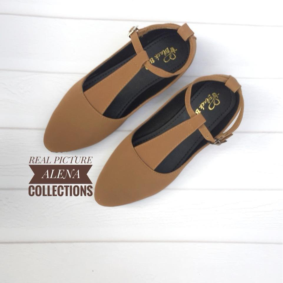 Alena Beak Flat Shoes FS-04 Fashion Sepatu Wanita / Sepatu Flat / Sepatu Hak Tinggi / Sandal / Aksesoris Sepatu / Wedges / Sepatu Slip On / Sepatu Balet