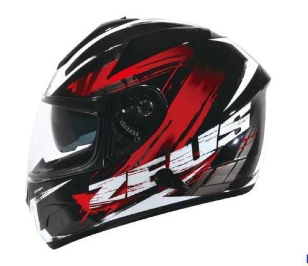 zeus 806 matt black doff red hitam dop merah ii48 helm fullface M L XL