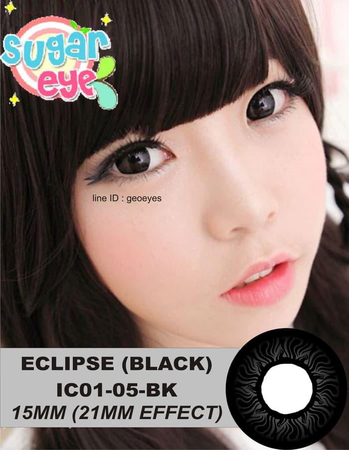 Promo - Softlens Eclipse Black IC01-05-BK (Hitam Pekat) Original