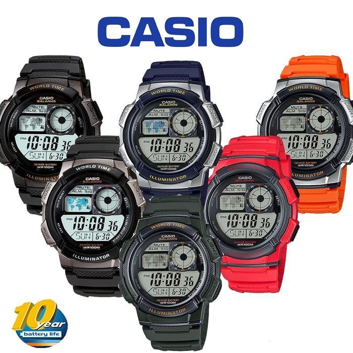PROMO!!! Casio Ae-1000W-1B Illuminator Original Garansi Resmi