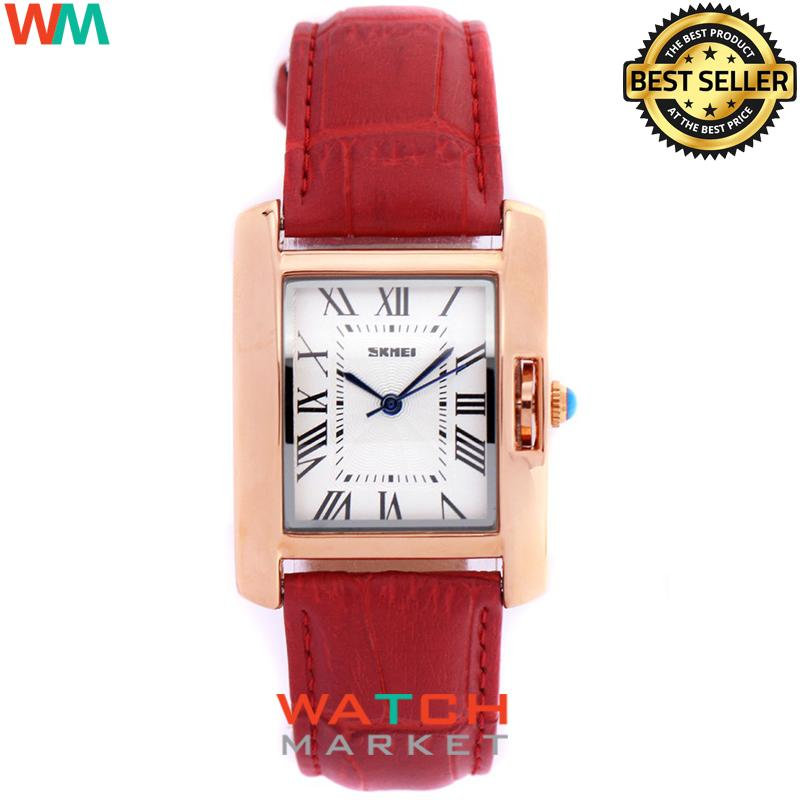 SKMEI 1085CL Jam Tangan UNISEX Fashion Watch Water Resistant Anti Air WR 30m Casual UNISEX Leather