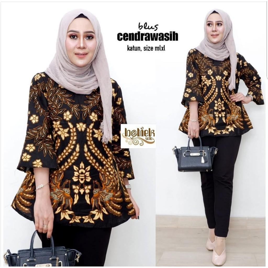Bloes Batik Blus Atasan Wanita Batik Batik Kerja Wanita Model Baju Batik Motif Batik Cendrawasih