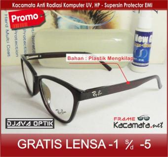 Bandingkan Toko Frame Kacamata 50174 + Lensa minus plus silinder untuk pria  dan wanita 1467a6b00e