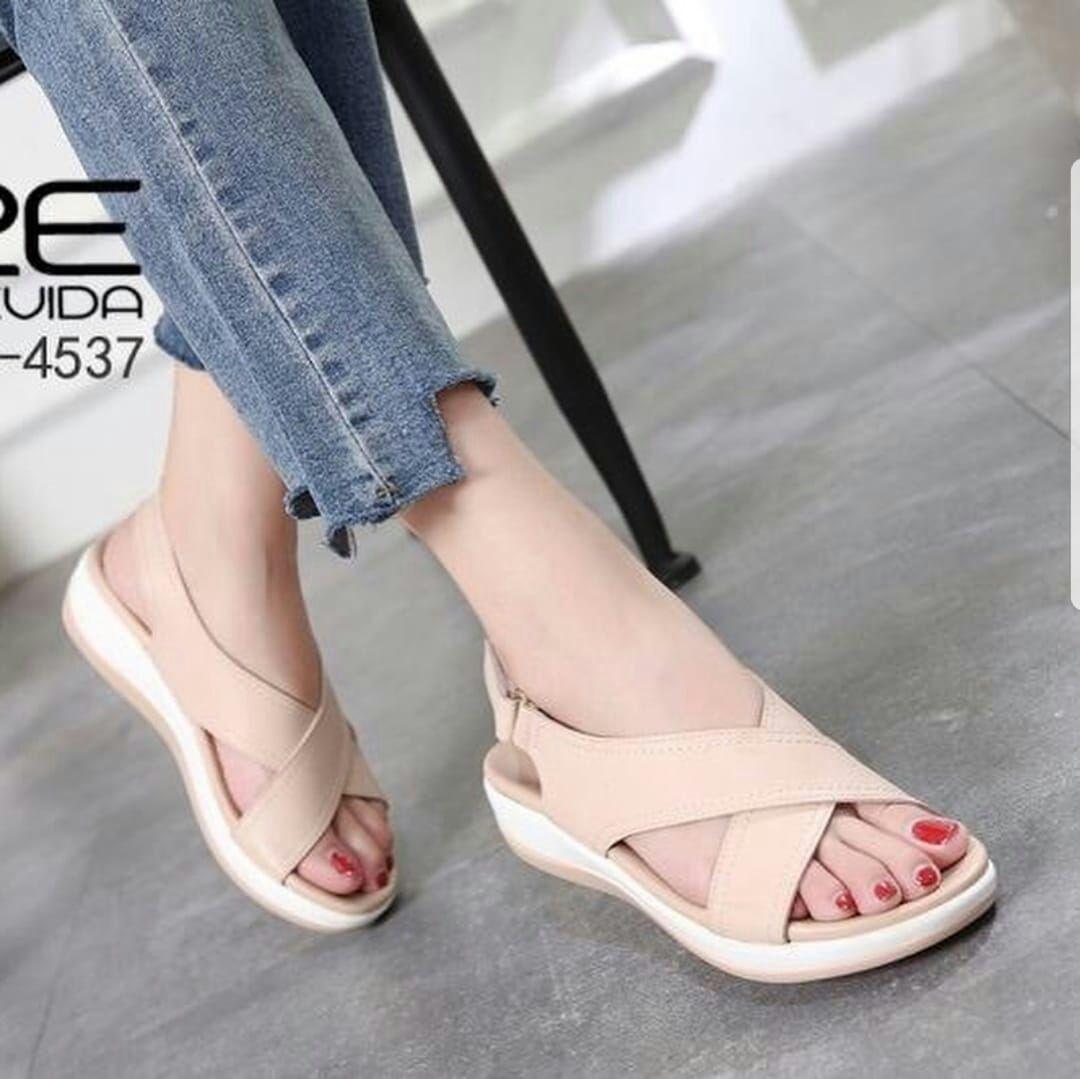 Buy Sell Cheapest Sandal Wedges Best Quality Product Deals Sepatu Wanita Moca Tali Silang 18 4537 Angel Clct