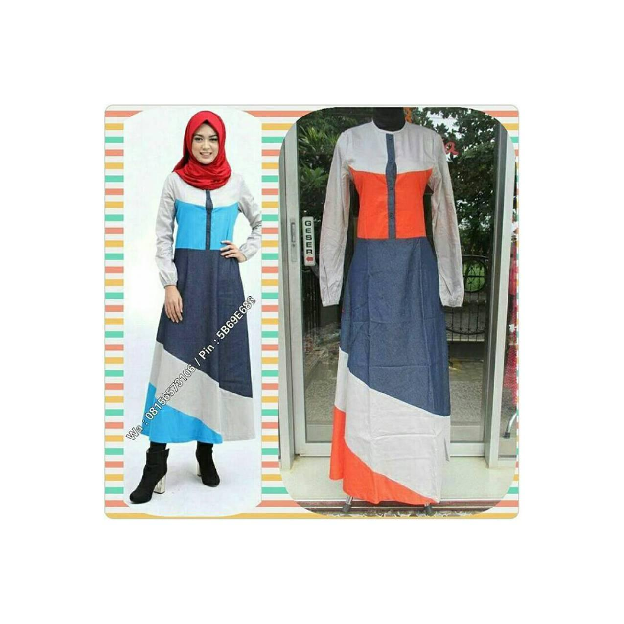 Abaya Dannis uk.xs,l,xl oranye