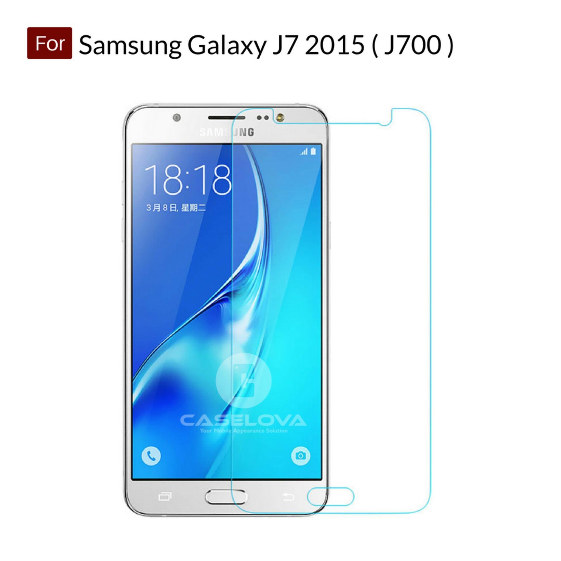 Tempered Glass Screen Protector Anti Gores Kaca Samsung Galaxy J7 2015 ( J700 ) - Clear