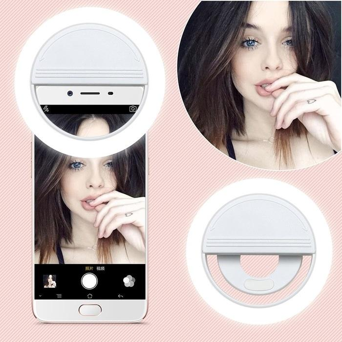 Lampu Selfie Ring LED Portable Selfie Ring Light Camera Fotografi