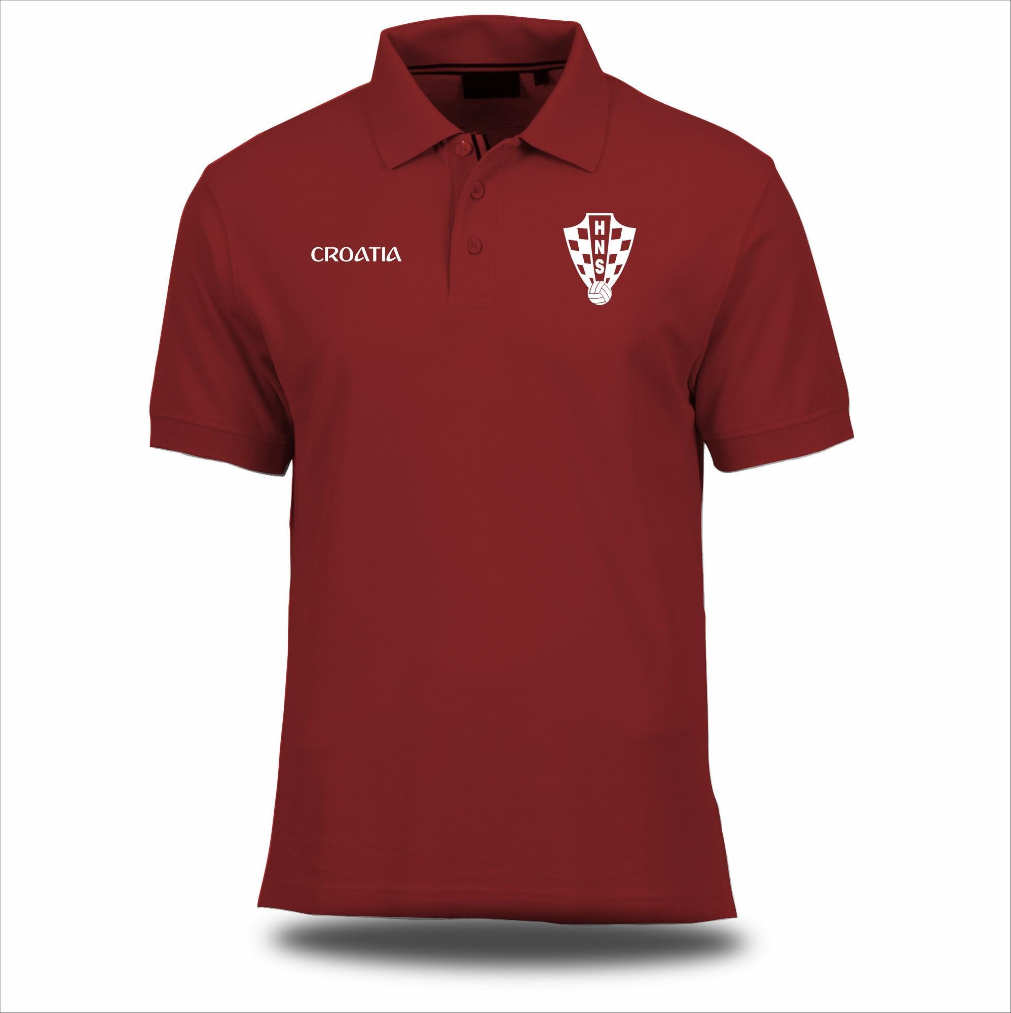 Jersey Ori World Cup Kroasia Croatia 2018 Russia Rusia Polo Shirt Kaos Kerah Bahan Lacoste Premium Murah Pria Wanita Terbaru