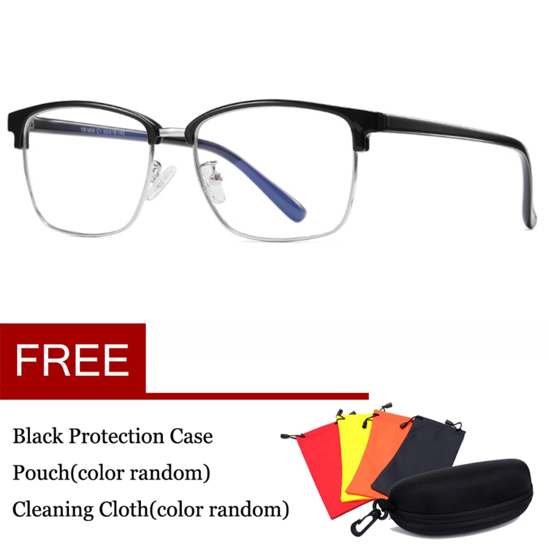 Komputer Kacamata Game Anti Cahaya Biru Kacamata Anti-Silau Anti Silau Tegangan Mata Lensa Perlindungan Uv 100% 0.00x Eyewear 1808 By Thomasstore.