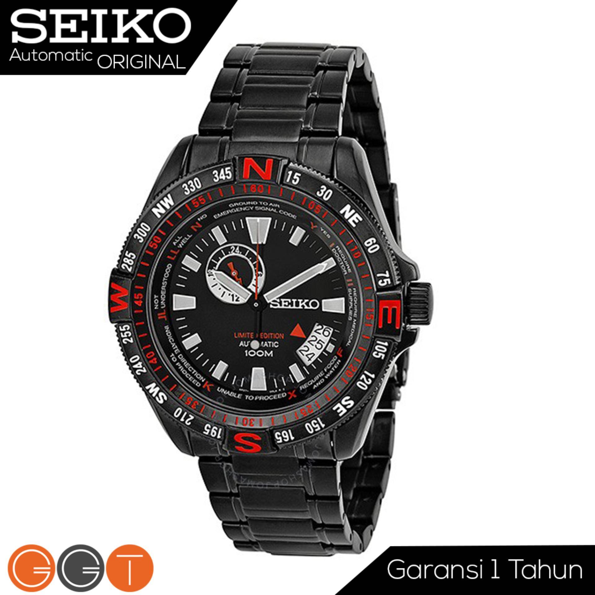 Seiko 5 Sports Automatic Limited Edition Jam Tangan Tali Karbon Sport Srpa07k1 Pria Otomatis Merah Hitam Divers Stainless Steel Strap Ssa113k1