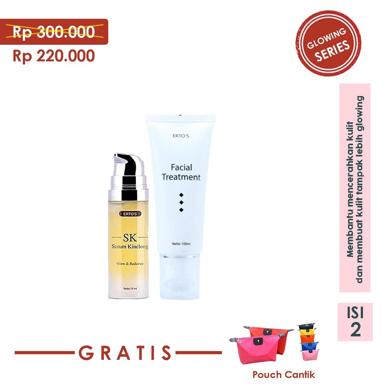 Buy Sell Cheapest Ertos Paket Glowing Best Quality Product Deals Serum Kinclong Original Gratis Tas Kosmetik Hemat Wajah