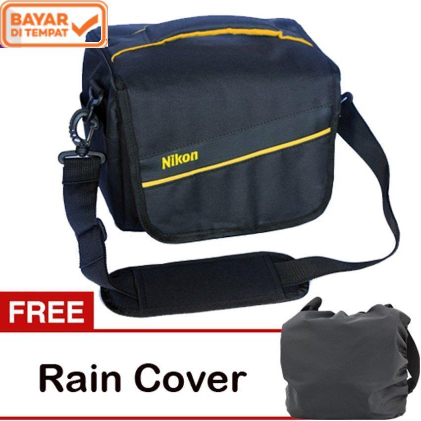 Nikon Tas Kamera DSLR Mirrorless 2 Lensa + Gratis Raincover kode H