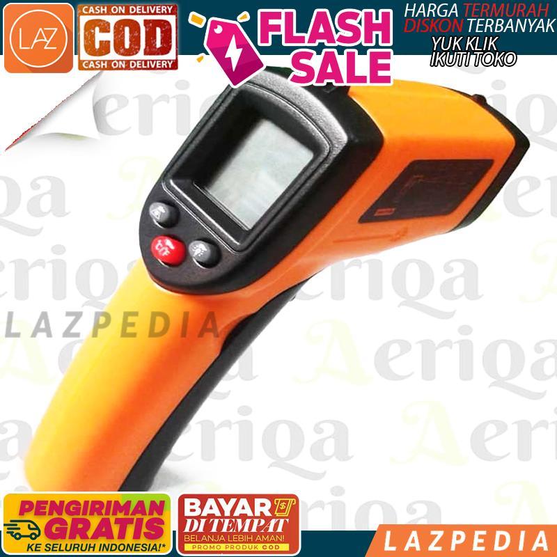 Cod - [gm320] Digital Infrared Thermometer / Ir Termometer / Laser Termo Gun / Thermometer Suhu / Alat Ukur Suhu Badan - Lazpedia A832 By Lazpedia.