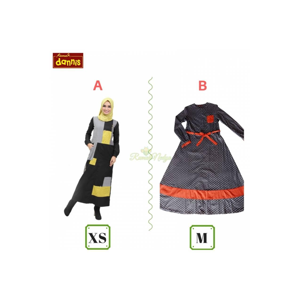 Abaya DANNIS 339rb / Gamis / Setelan / Busana Muslim