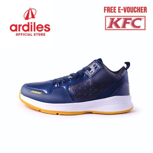 Ardiles Men Pride Basket Shoes - Navy Kuning