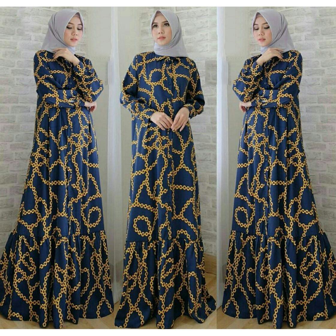 J&C Dress Maxy Rantai / Gamis Muslim / Dress Maxi / Jumbo Dress / Maxi Jumbo / Maxi Muslim / Maxi Dress / Dress Muslim / Busana Muslim / Baju Muslim / Setelan Muslim / Hijab Fashion / Hijab Style